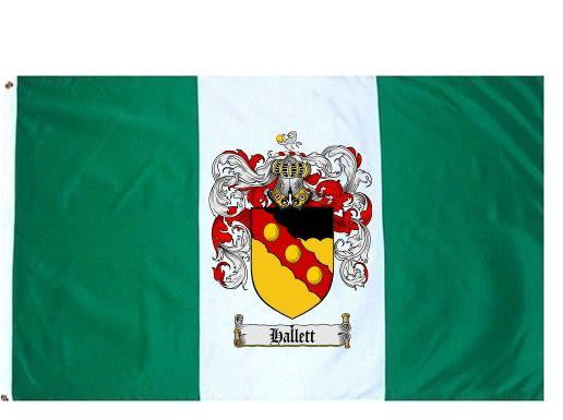 Hallett family crest coat of arms flag