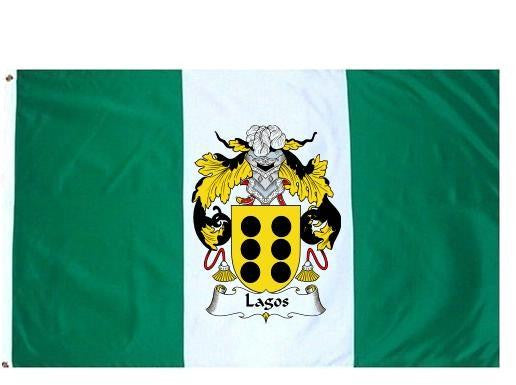 Lagos family crest coat of arms flag