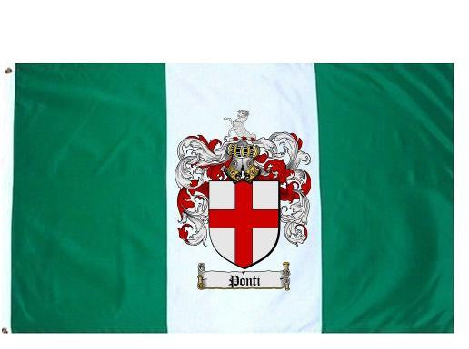 Ponti family crest coat of arms flag