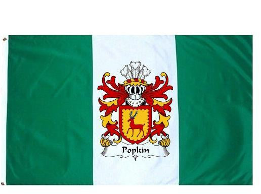 Popkin family crest coat of arms flag