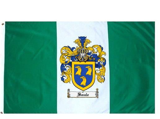 Saule family crest coat of arms flag