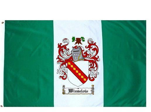 Winselow family crest coat of arms flag