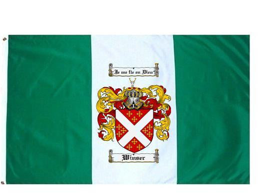 Winser family crest coat of arms flag