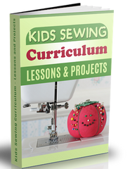 Kids Sewing Lessons and Projects Set