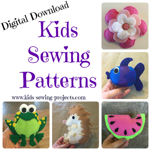 Kids Sewing Patterns digital downloads