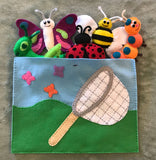 Bug Theme Hand Sewing Patterns- Butterfly, Bee, Ladybug, Grasshopper, Caterpillar Felt Patterns Sewing Projects