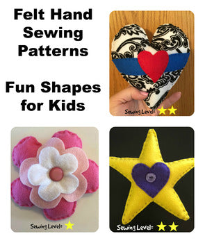 Fun Shapes Felt Hand Sewing Patterns Bundle