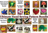 Ultimate Felt Hand Sewing Patterns Bundle Set