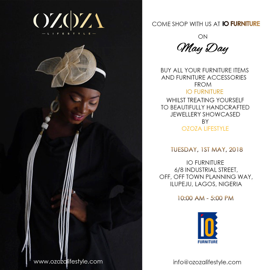 Past Event: Come Shop with us at IO Furniture on May Day
