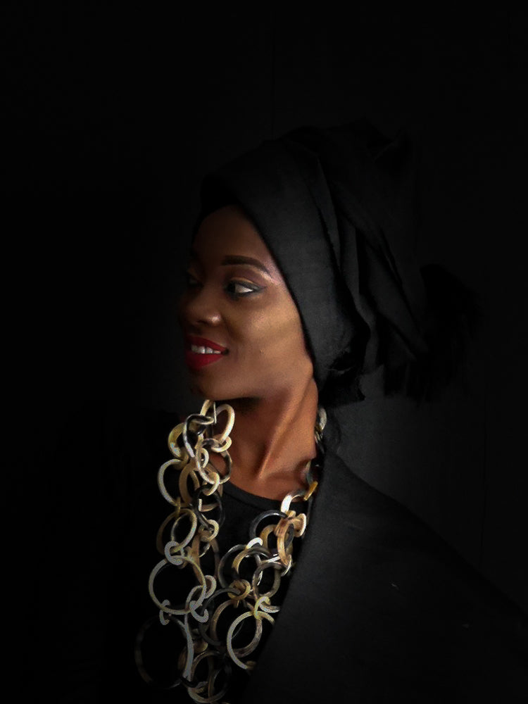 Okene Cloth Black Gele