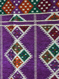 Beautiful Hand-Woven North African Purple Runner
