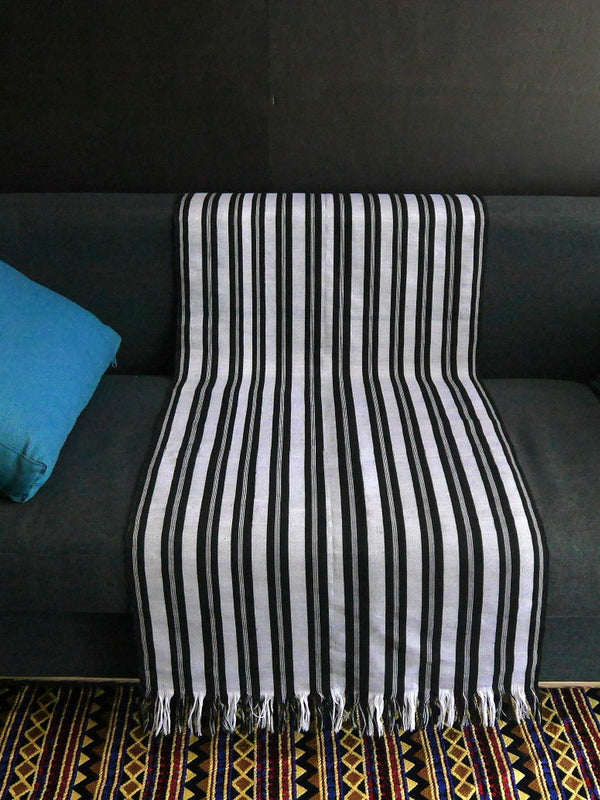 Okene Cloth black and White Stripped