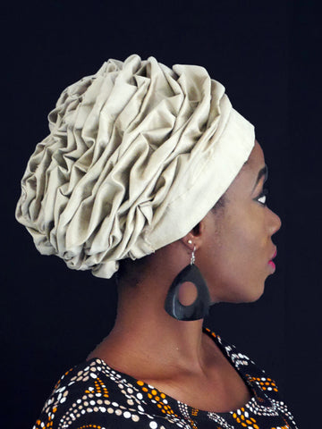 Pleated Top Turban