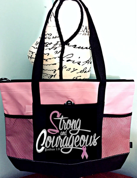 Strong & Courageous Tote BC -  WearYourPraise Apparel