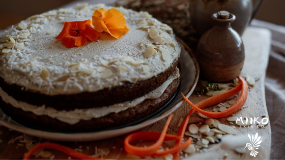Gluten-Free Carrot Cake with Cashew Cream Frosting