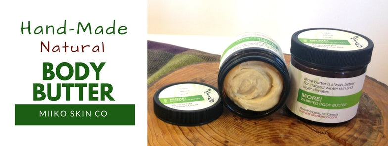 Natural body butter on top of wood