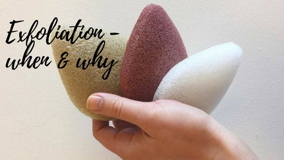 3 konjac sponges that say Exfoliation when and why?