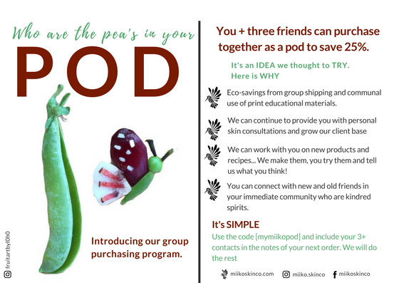 Pod Program postcard with a butterfly coming out of pea pod