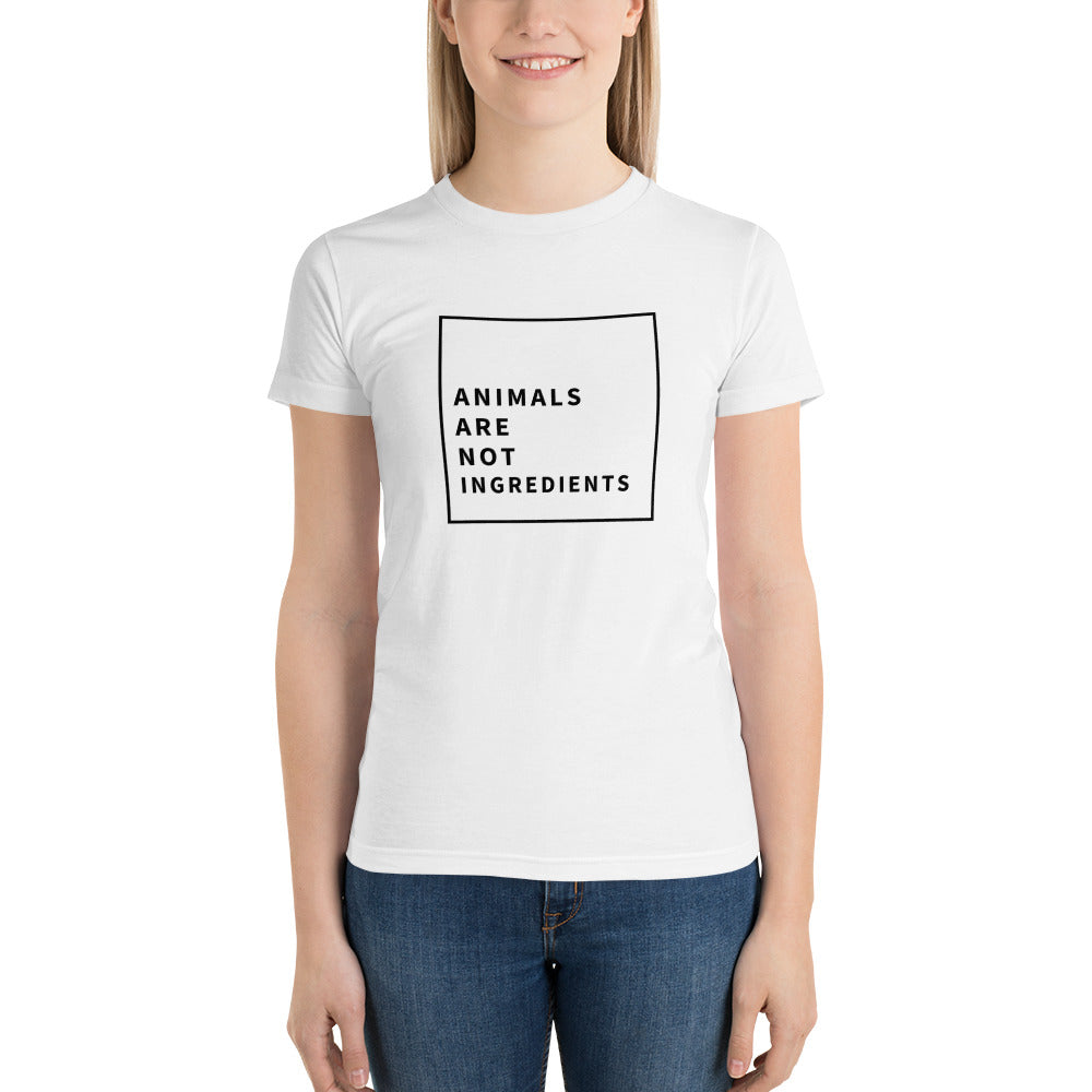 Animals Are Not Ingredients Women's Short sleeve women's t-shirt