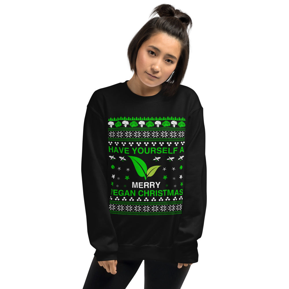 Limited Edition - Have Yourself A Merry Vegan Christmas Unisex Ugly Sweatshirt