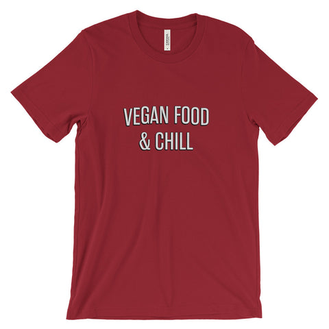 Vegan Food and Chill (Netflix Font) Unisex short sleeve t-shirt