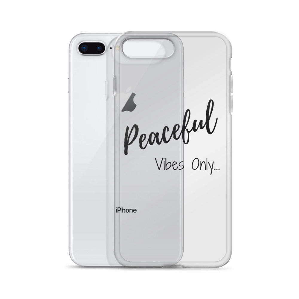 Peaceful Vibes Only iPhone Case