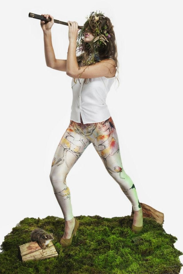 Lucy Wood Miss Asrai Leggings Pins by Lydra | Certified Ethical Fashion & Aust. Made