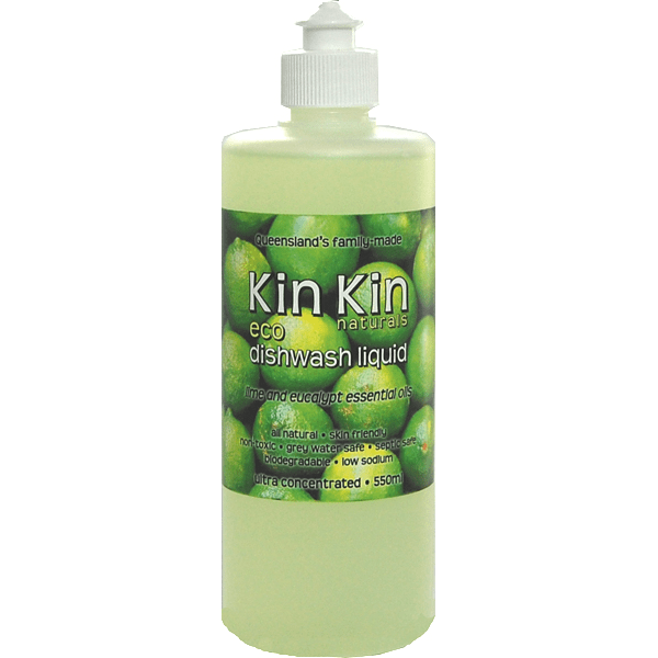 Kin Kin Naturals Dishwashing Liquid Lime + Eucalyptus (Ultra Concentrate)
