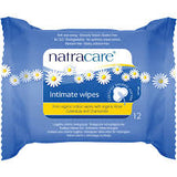 Natracare Organic Cotton Intimate Wipes with Organic Rose, Calendula & Chamomile x 12 Pack