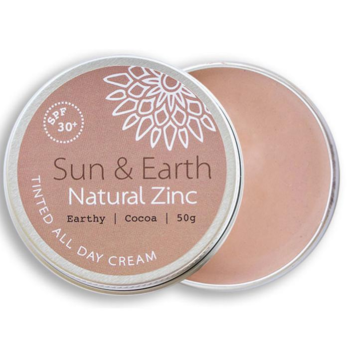 Sun & Earth Natural Zinc Tinted All Day Cream SPF 30+ The Kind Store
