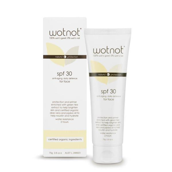 Wotnot Natural Sunscreen Anti-Aging For Face SPF 30+ (Broad Spectrum)