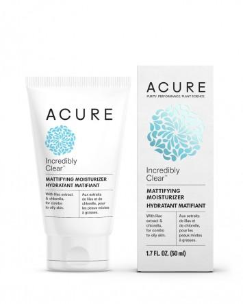 Acure Incredibly Clear Mattifying Moisturiser for Oily or Acne Prone Skin