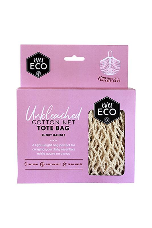 Ever Eco Reusable Shopping Bag Tote Unbleached Organic Cotton