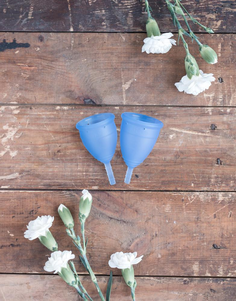 Lunette Menstrual Cup Silicone Model 1 or 2 Blue Colour