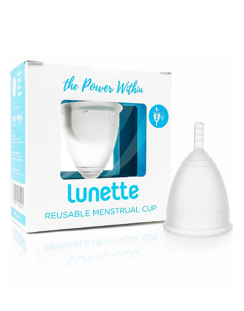 Lunette Menstrual Cup Silicone Model 1 or 2 Clear The Kind Store