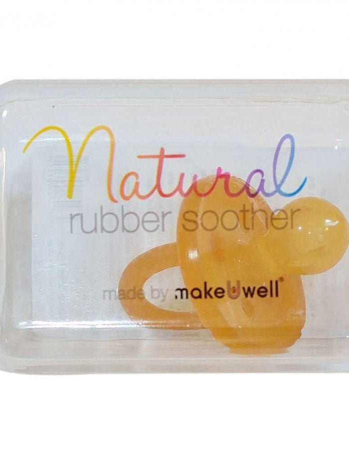 Make U Well Natural Rubber Baby Soother Non Toxic Baby Dummy Round Teat