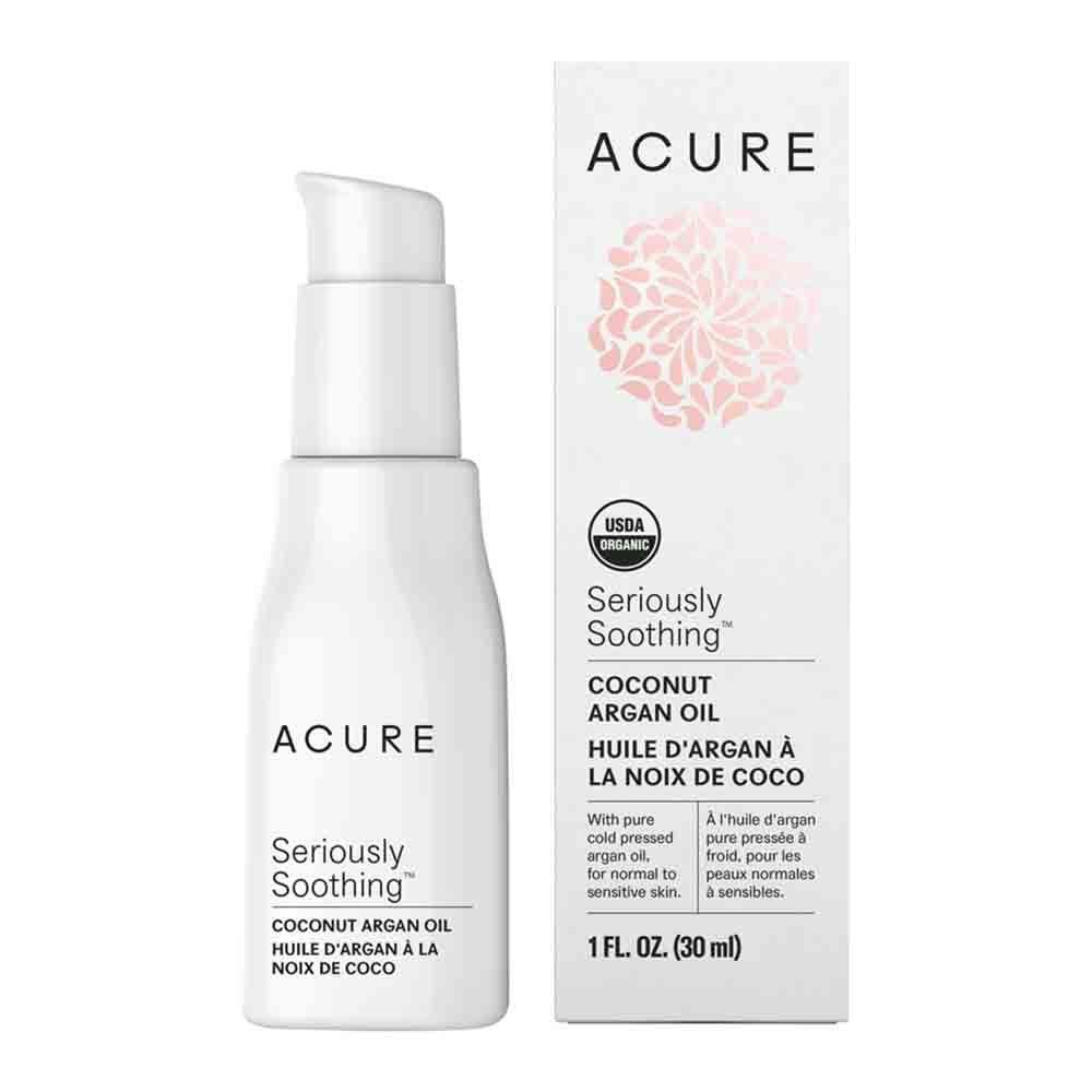 Acure Seriously Soothing Coconut Argan Oil (30ml) The Kind Store