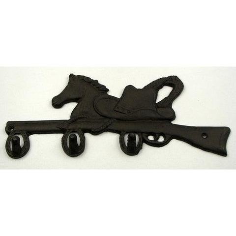 Horse and Rifle Wall Hooks