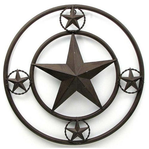 "16"" Brown Star With Stars On Edge AS IS"