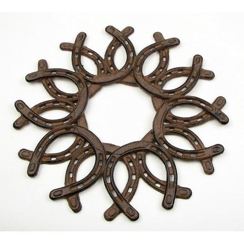 Cast Iron Horseshoe Wreath
