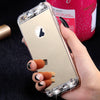 Slim Soft Diamond Crystal Fashion Bling Glitter Mirror Phone Case For iPhone 6 6S, 6/6S Plus, i5 5S SE