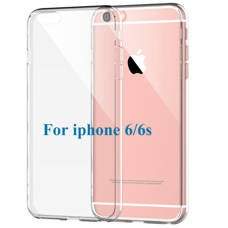 Slim Crystal Clear TPU Silicone Protective Sleeve Case for iPhone 6 Plus / 6S Plus
