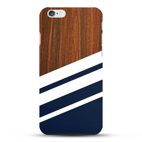 Bamboo Wood-Inspired Hard Case for iPhone 4s 5c 5s 6 6s Plus