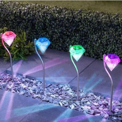 4Pcs Outdoor Stainless Steel LED Solar Light