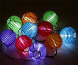 1X Solar Powered Chinese Lanterns Led String Lights