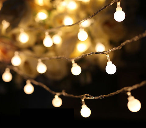 50 LED Battery Operated Cherry Ball Fairy String Decorative Lights