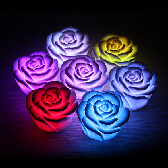 Romantic Rose Flower Color Changing LED Light