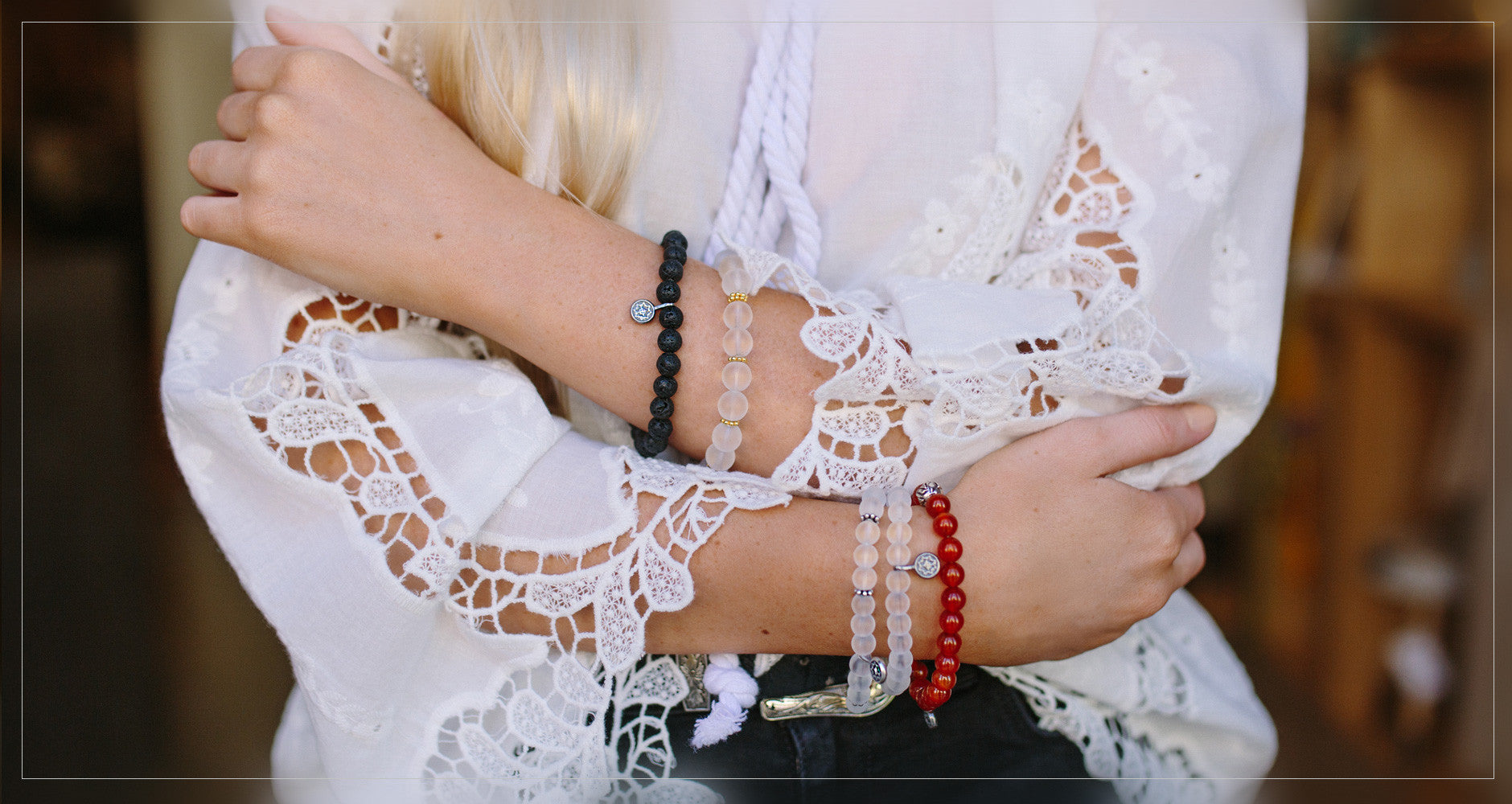 Primitive Luxury jewellery beadluxe-bracelet-Luxury agate beaded bracelet