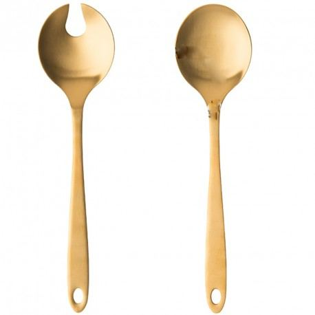 Salad Tossers With Gold Handles