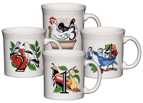 Fiesta Twelve Days of Christmas Mugs, Series 1, Set of 4